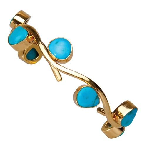 Alchemia Sleeping Beauty Turquoise Wave Cuff