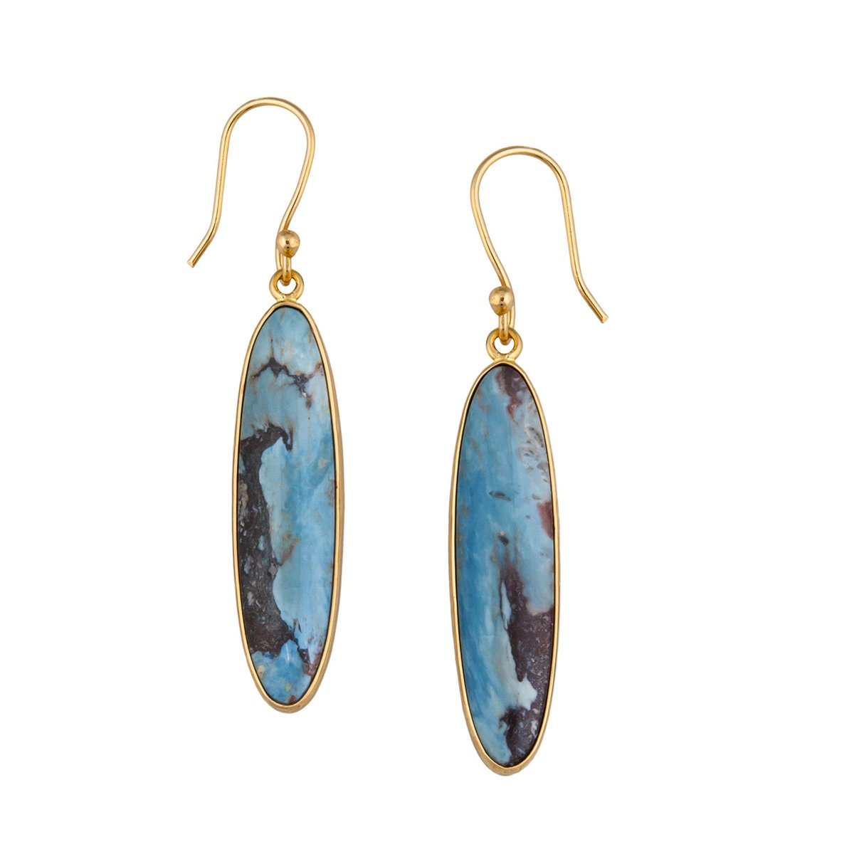 alchemia-aztec-lapis-earrings - 1 - Charles Albert Inc