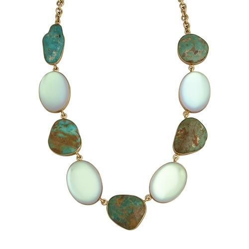 Alchemia Luminite & Campo Frio Turquoise Necklace | Charles Albert Jewelry