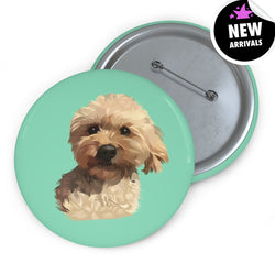 Barkly | Custom pet pin buttons with your dog face
