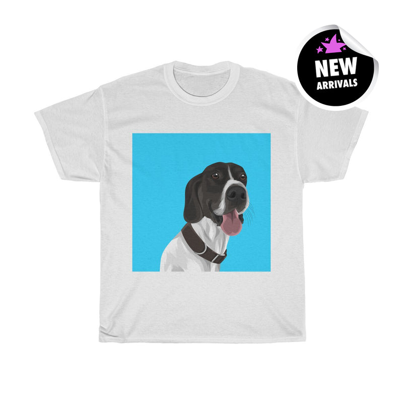 Barkly - Custom heavy cotton tshirt with your dog portrait