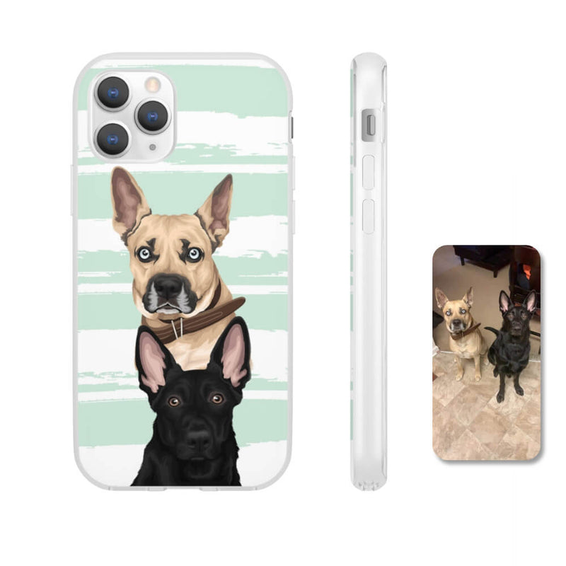 Barkly - Custom phone case with your dog portraits