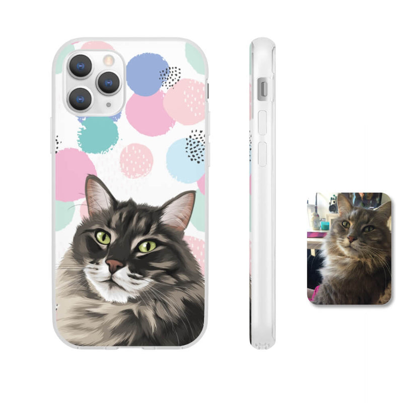 Barkly - Custom phone case with your cat portrait