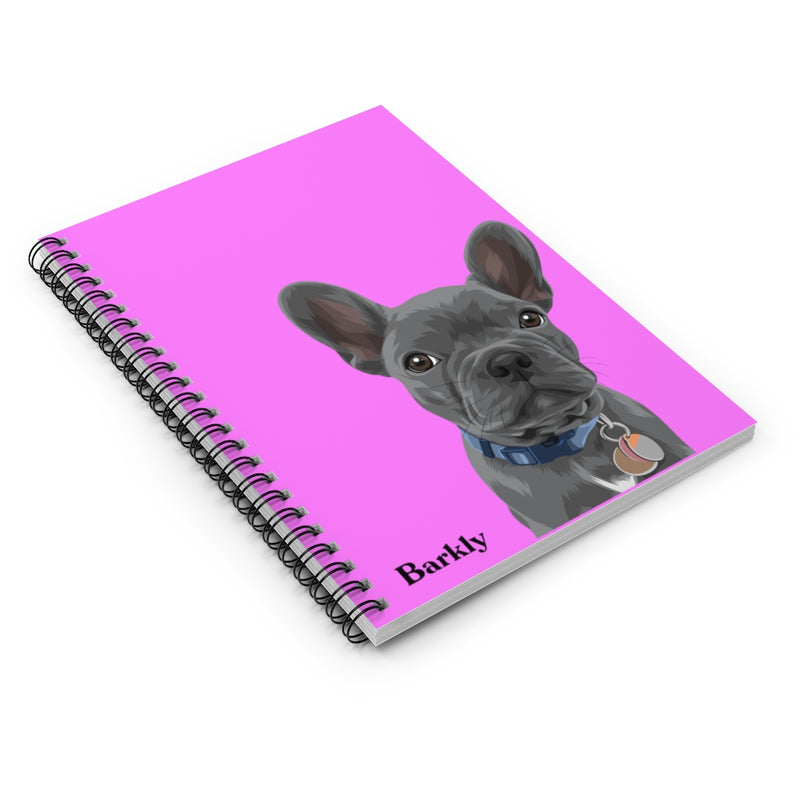 Barkly - Custom pet spiral notebook with your dog portrait