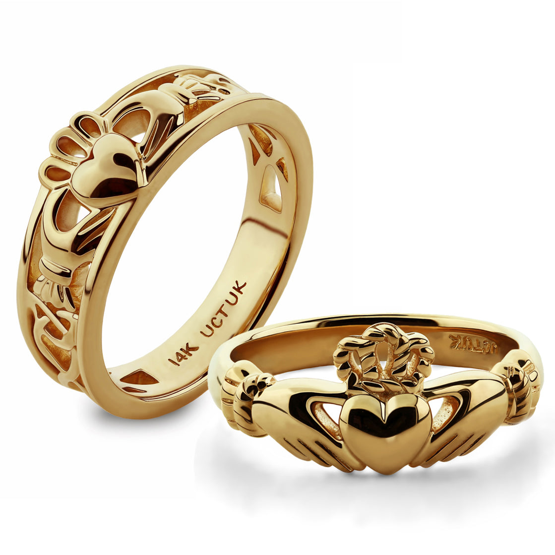 14k Gold Claddagh Rings