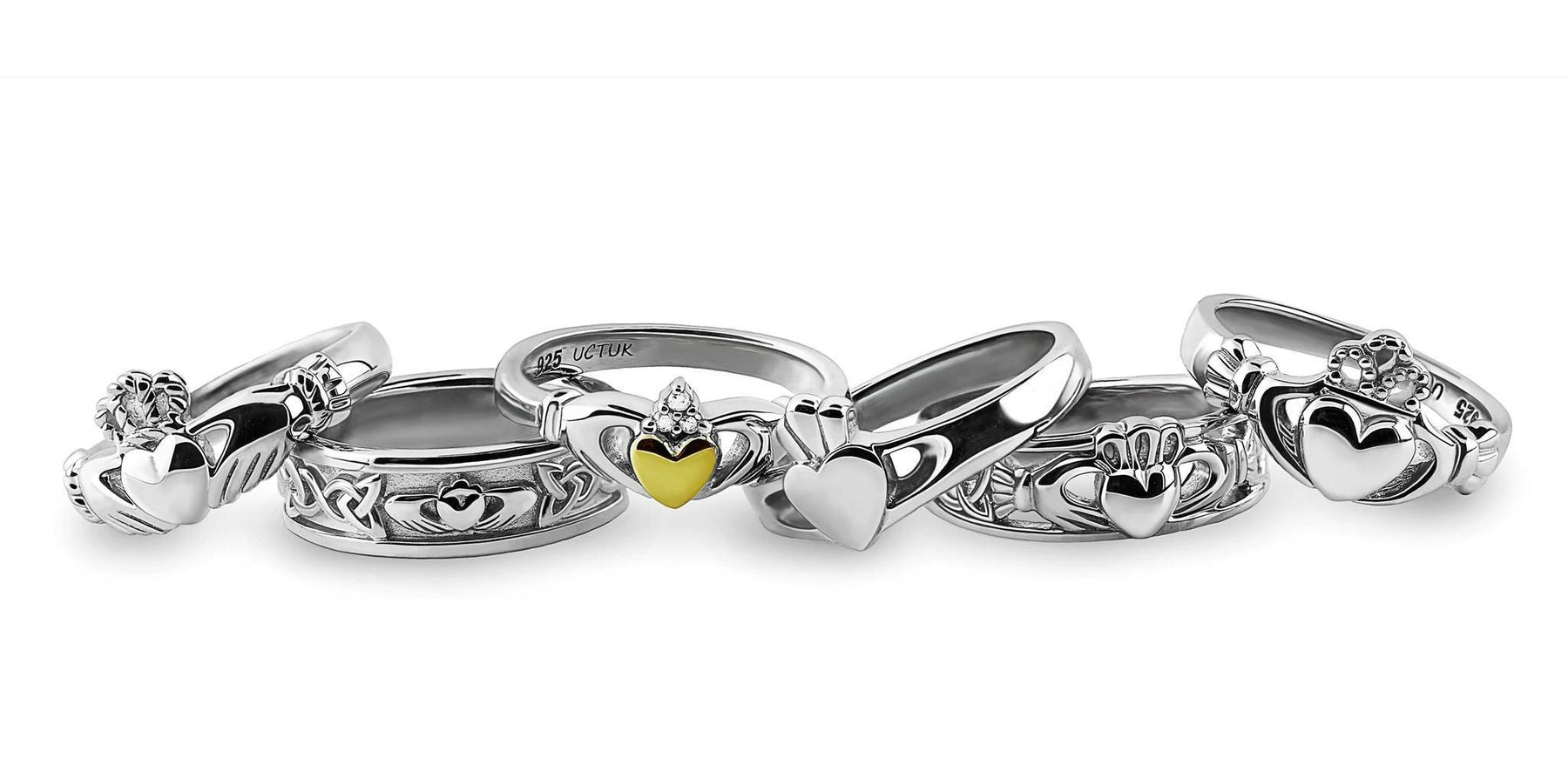 Silver Claddagh Rings
