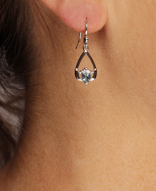 Claddagh December Birthstone Earrings