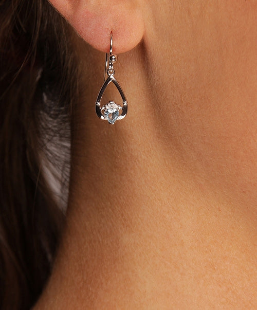 Claddagh MARCH Birthstone Earrings