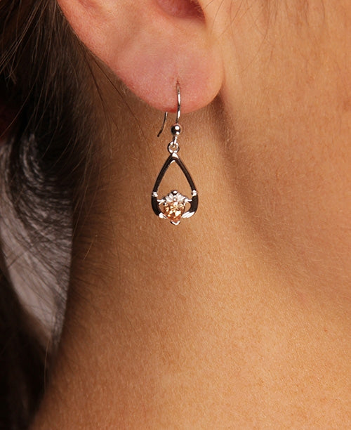 Claddagh November Birthstone Earrings