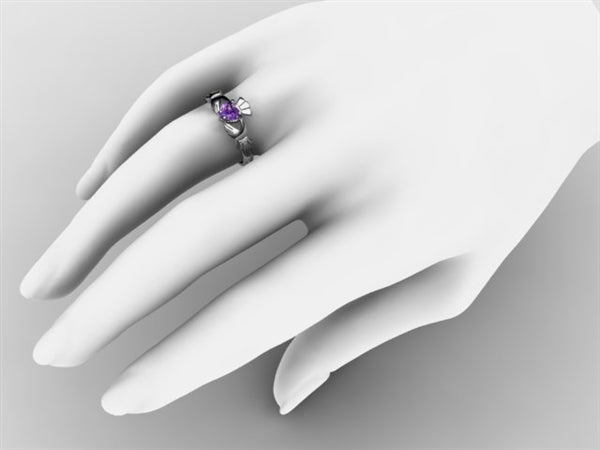 Claddagh Ring SUE-AMET-WHITE on hand