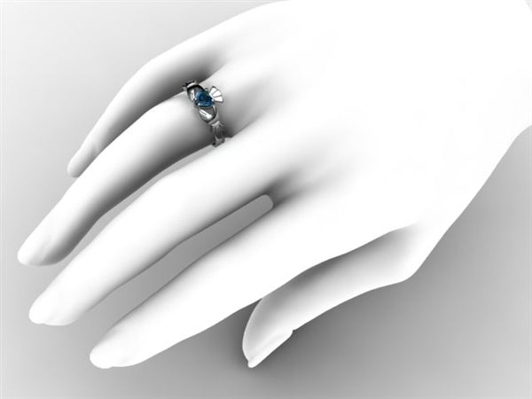 Claddagh Ring SUE-LBT-WHITE on hand