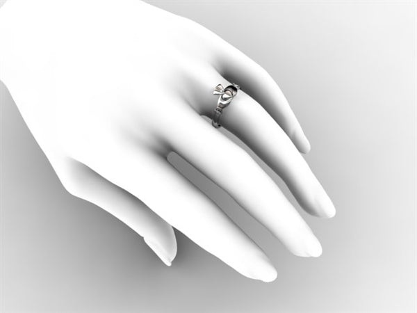 Claddagh Ring TAM-1-WHITE on hand