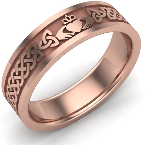 Claddagh Wedding Ring UCL1-14R6MFLAT