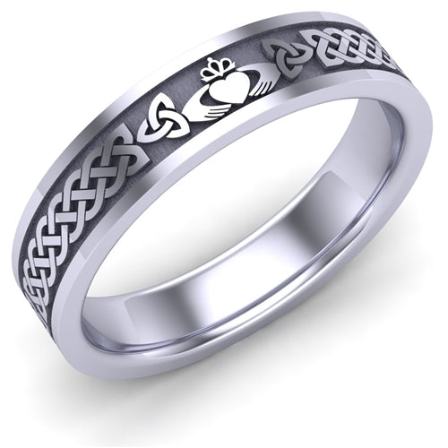 Claddagh Wedding Ring UCL1-14W5MFLAT
