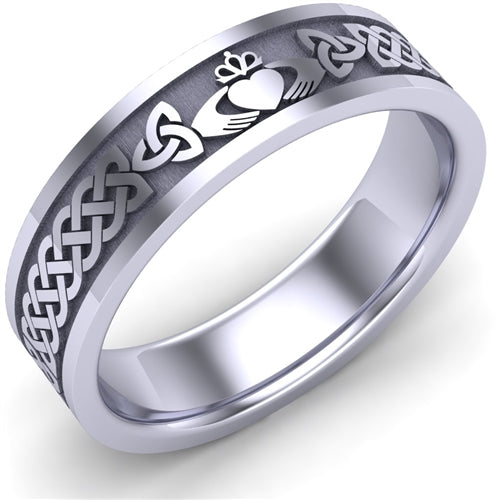 Claddagh Wedding Ring UCL1-14W6MFLAT