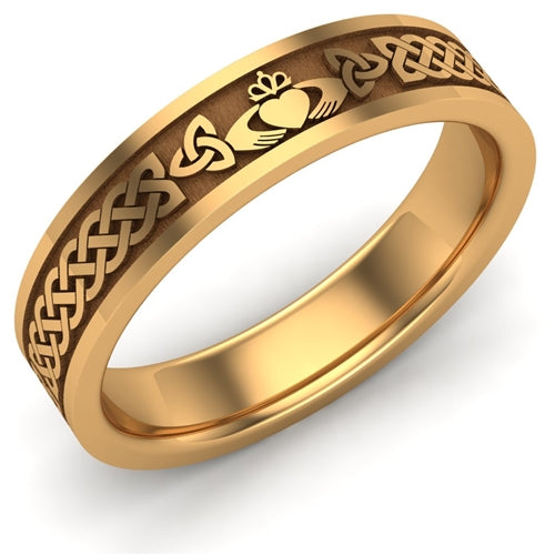 Claddagh Wedding Ring UCL1-14Y5MFLAT