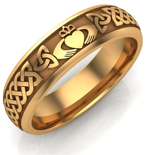 Claddagh Wedding Ring UCL1-14Y6M