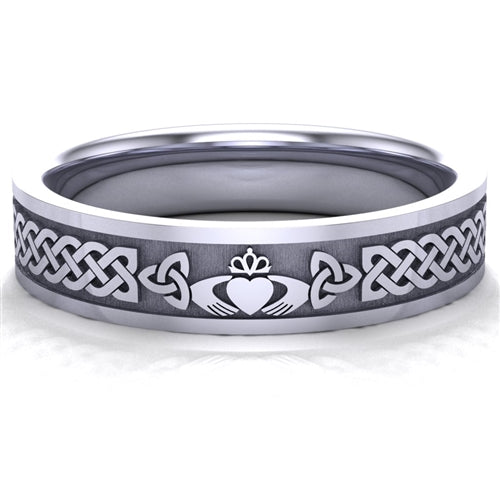 Claddagh Wedding Ring UCL1-PLAT5MFLAT