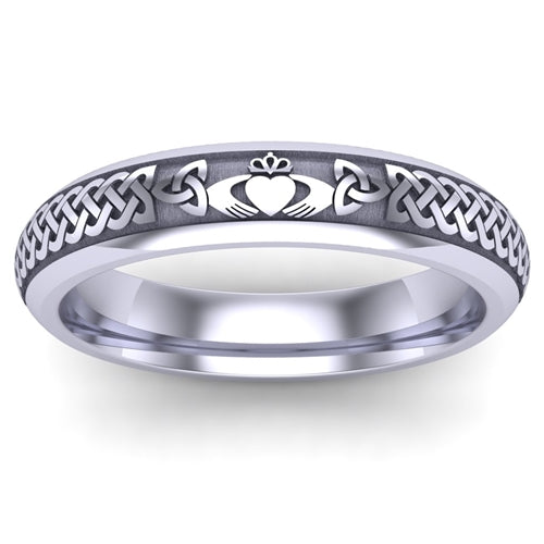 Platinum Claddagh Wedding Ring UCL1-PLATINUM5M