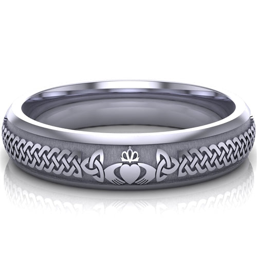 Claddagh Wedding Ring UCL1-PLATINUM5M