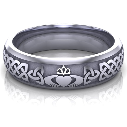 Claddagh Wedding Ring UCL1-PLATINUM6M