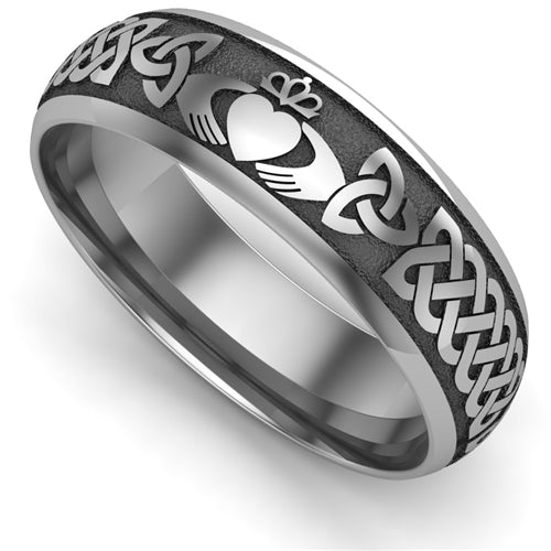 Titanium Claddagh Wedding Ring UCL1-TITAN6M