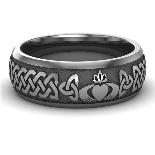 Titanium Claddagh Wedding Ring UCL1-TITAN8M