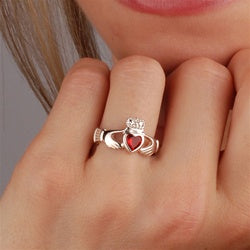 Claddagh Rings Birthstone July