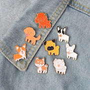 Dog Enamel Pin Set