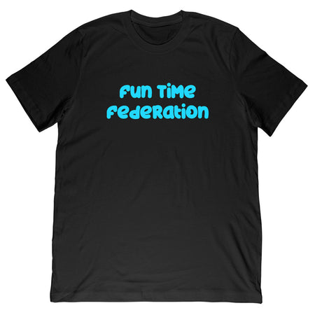 Fun Time Federation Blue Text Tee