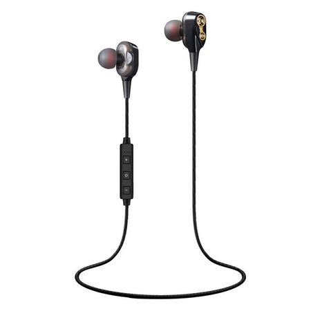 Double Dynamics In-Ear Bluetooth Earphones w/ Mic