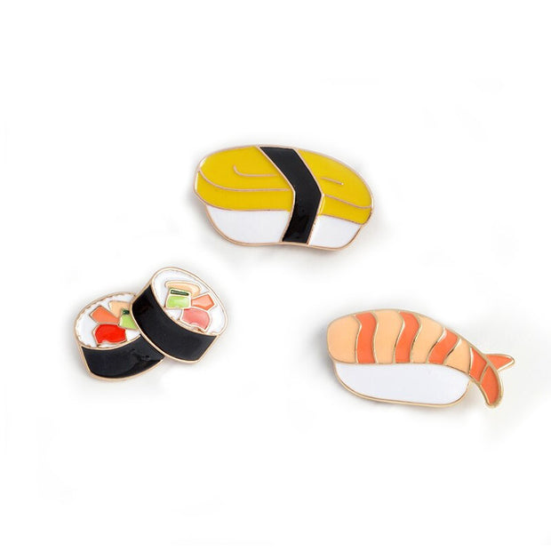 Sushi Enamel Pin Set
