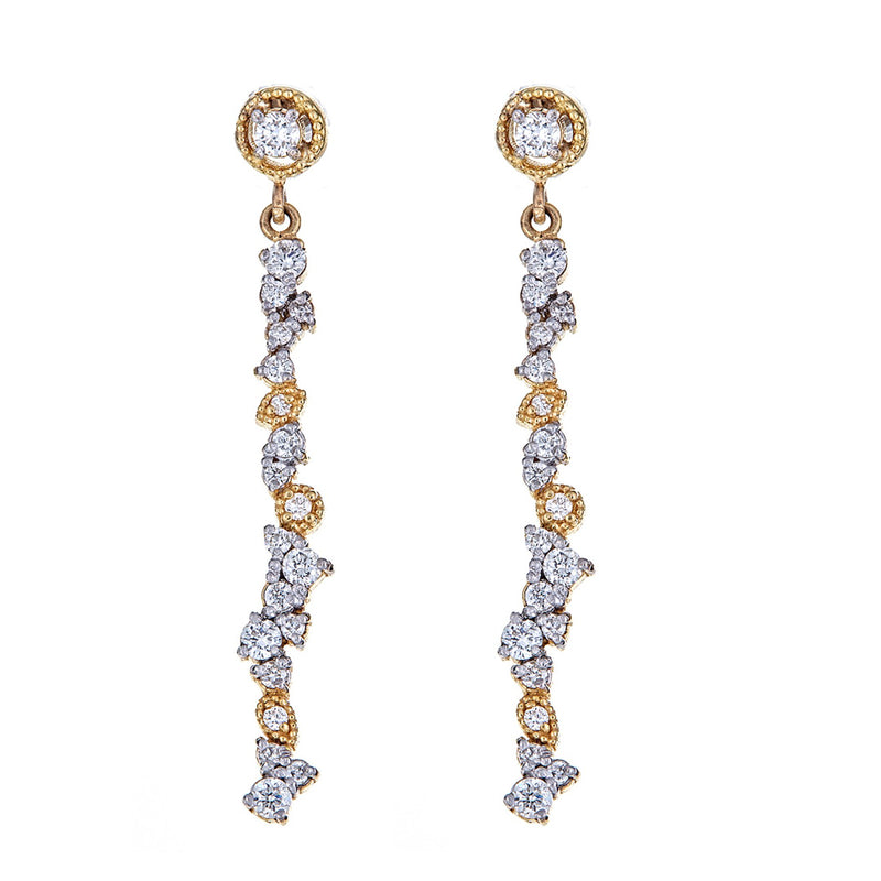 Diamond Confetti Drop Earrings