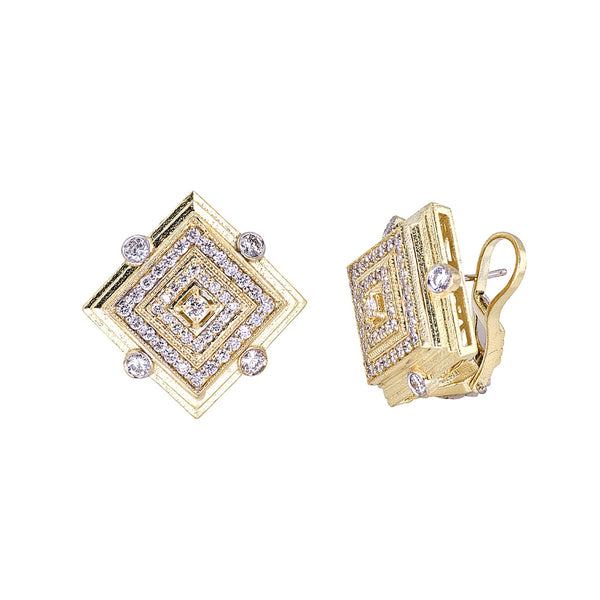 Diamond Square Deco Earrings