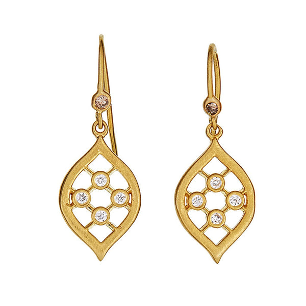 Diamond Marquise Drop Earrings
