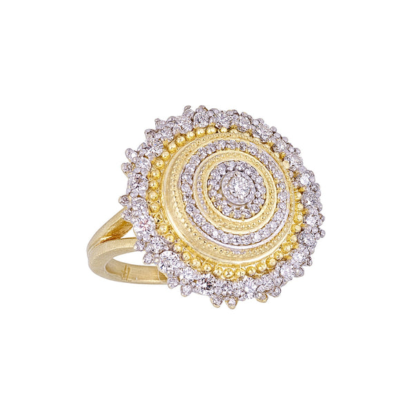 Diamond Sunburst Ring