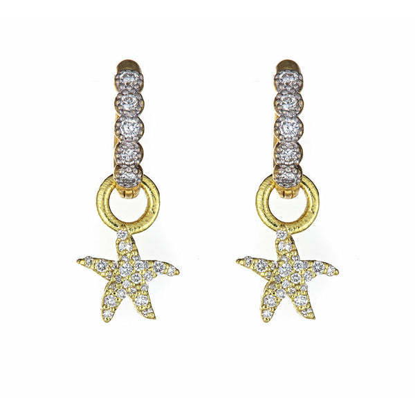 Diamond Starfish Ear Charms