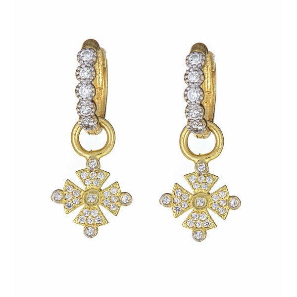 Diamond Cross Ear Charms