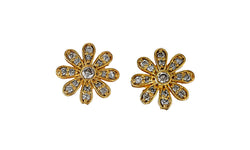 Diamond Small Sunflower Studs