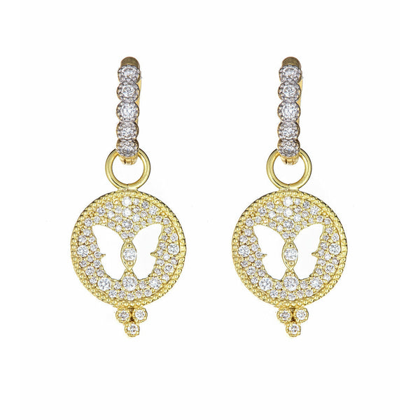 Diamond Butterfly Disc Ear Charms