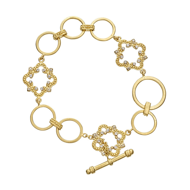 Tanya Farah Fine Jewelry | Diamond Cloud Toggle Bracelet