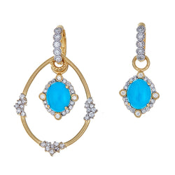 Tanya Farah Fine Jewelry | Turquoise Diamond Royal Petite Ear Charms