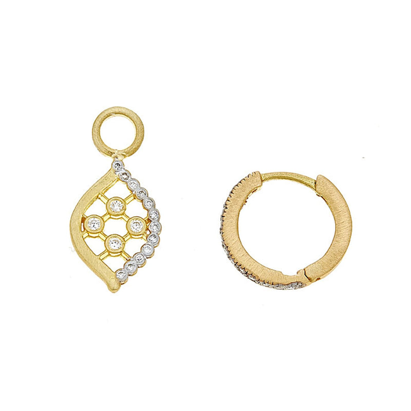 Tanya Farah Fine Jewelry | Diamond Marquise Art Deco Ear Charms