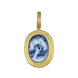 Tanya Farah Fine Jewelry | Tree Blue Cameo Classic Enhancer