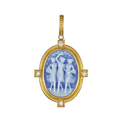Tanya Farah Fine Jewelry | Dancing Ladies Cameo Diamond Bezel Enhancer