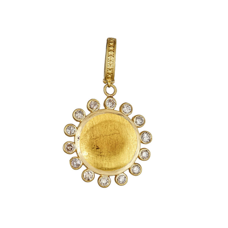 Tanya Farah Fine Jewelry | Gold Diamond Sunburst Enhancer