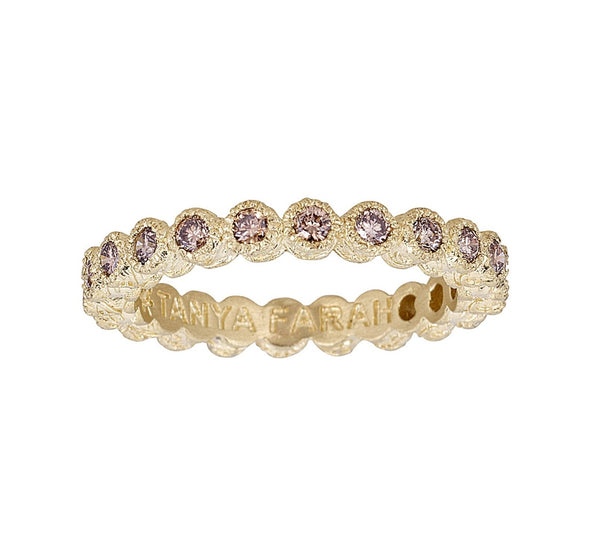 Tanya Farah Fine Jewelry | Champagne Diamond Bezel Stacking Ring