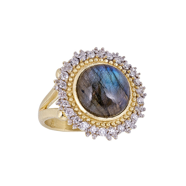 Tanya Farah Fine Jewelry | Labradorite Diamond Sunburst Ring
