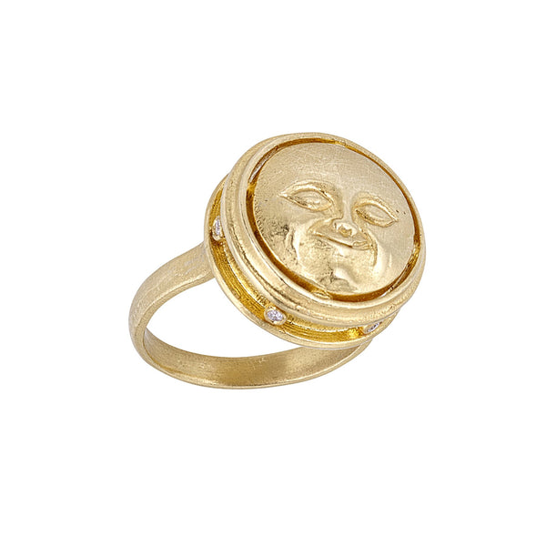 Tanya Farah Fine Jewelry | Woman in the Moon Ring