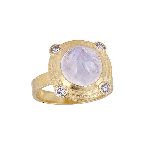 Tanya Farah Fine Jewelry | Moonstone Diamond Bezel Ring
